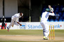 Andile Phehlukwayo in his follow-through, South Africa v Bangladesh, 1st Test, Bloemfontein, 3rd day, October 8, 2017