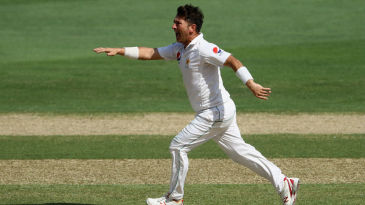 Yasir Shah dismissed Dilruwan Perera for a first-ball duck