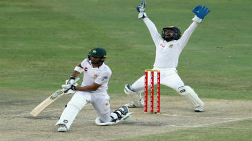 Shan Masood struggled throughout his stay in the second innings