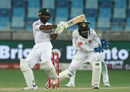 Asad Shafiq plays the pull, Pakistan v Sri Lanka, 2nd Test, Dubai, 4th day, October 9, 2017