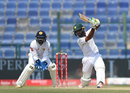 Asad Shafiq drives through the off side, Pakistan v Sri Lanka, 2nd Test, Dubai, 4th day, October 9, 2017