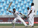 Asad Shafiq celebrates his century, Pakistan v Sri Lanka, 2nd Test, Dubai, 5th day, October 10, 2017