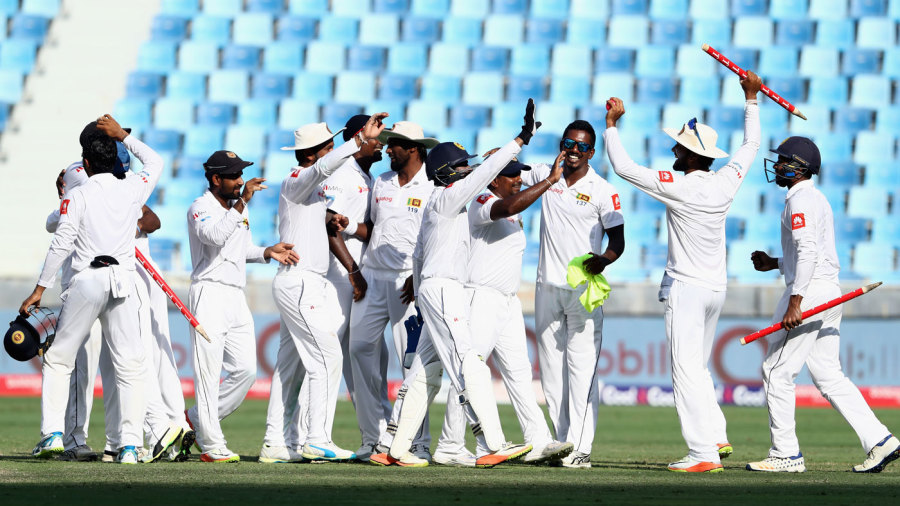 The Sri Lankan team after wrapping up the series against Pakistan