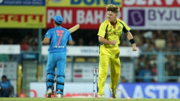 Adam Zampa was chuffed about outsmarting MS Dhoni