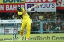 Moises Henriques flays one over the leg side, India v Australia, 2nd T20I, Guwahati, October 10, 2017