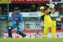 Moises Henriques steered Australia to victory with an unbeaten half-century, India v Australia, 2nd T20I, Guwahati, October 10, 2017
