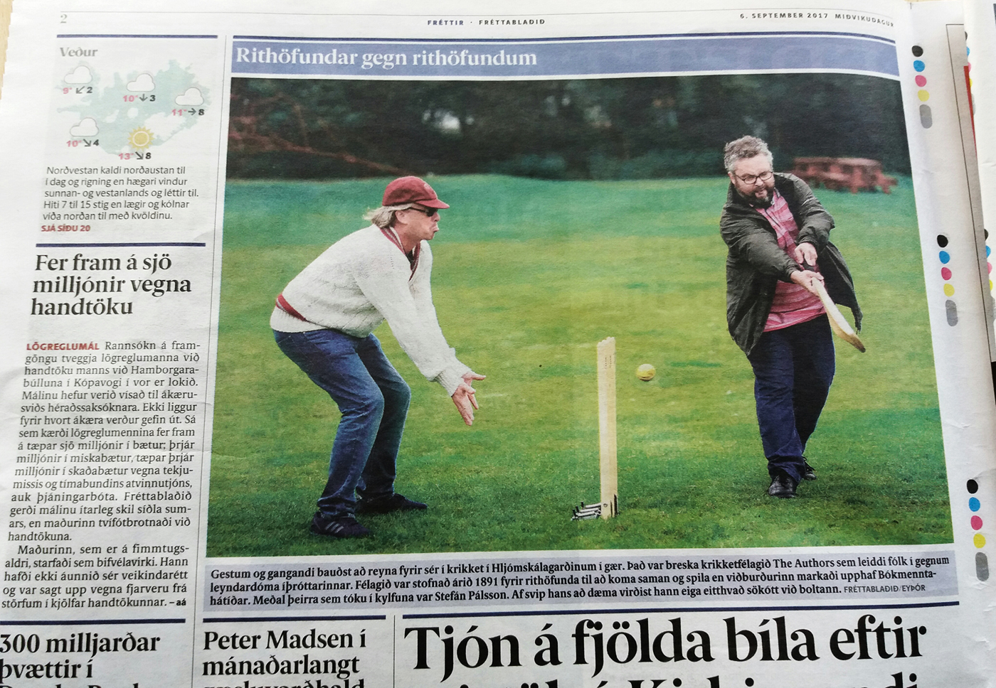 Icelandic daily Fréttablaðið covers the demonstration game
