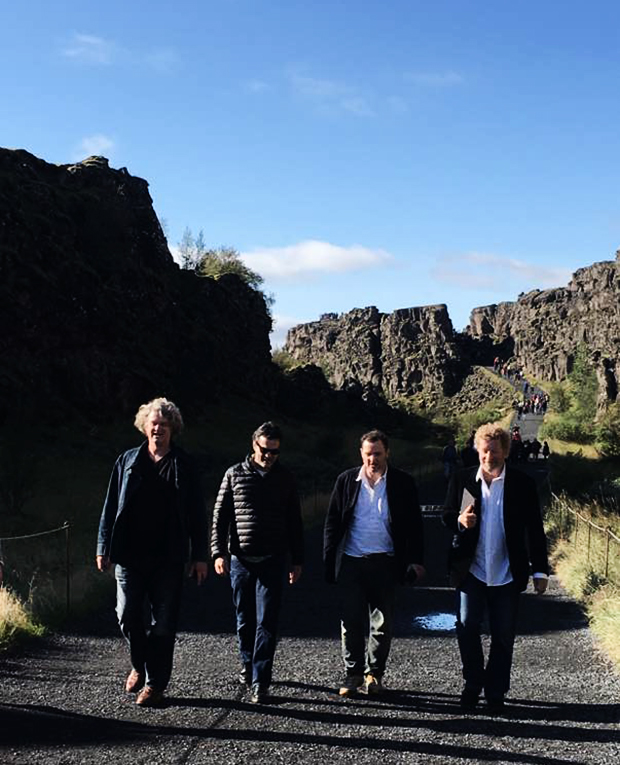 John Sutton, Steve Cannane, Anthony McGowan and Sebastian Faulks take a hike