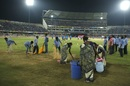There were large wet patches on the outfield, India v Australia, 3rd T20I, Hyderabad, October 13, 2017