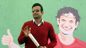 Irfan Pathan speaks at an event