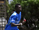 Alzarri Joseph runs in to bowl, Bulawayo, October 13, 2017