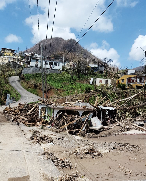 Villages in northern Dominica were nearly flattened by Maria