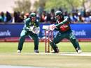 Mushfiqur Rahim rocks back to cut, South Africa v Bangladesh, 1st ODI, Kimberley, October 15, 2017