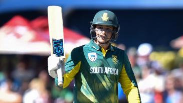 Quinton de Kock scored his 13th ODI hundred