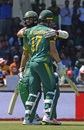 Hashim Amla and AB de Villiers embrace each other, South Africa v Bangladesh, 2nd ODI, Paarl, October 18, 2017