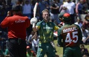 AB de Villiers roars after getting to a hundred, South Africa v Bangladesh, 2nd ODI, Paarl, October 18, 2017