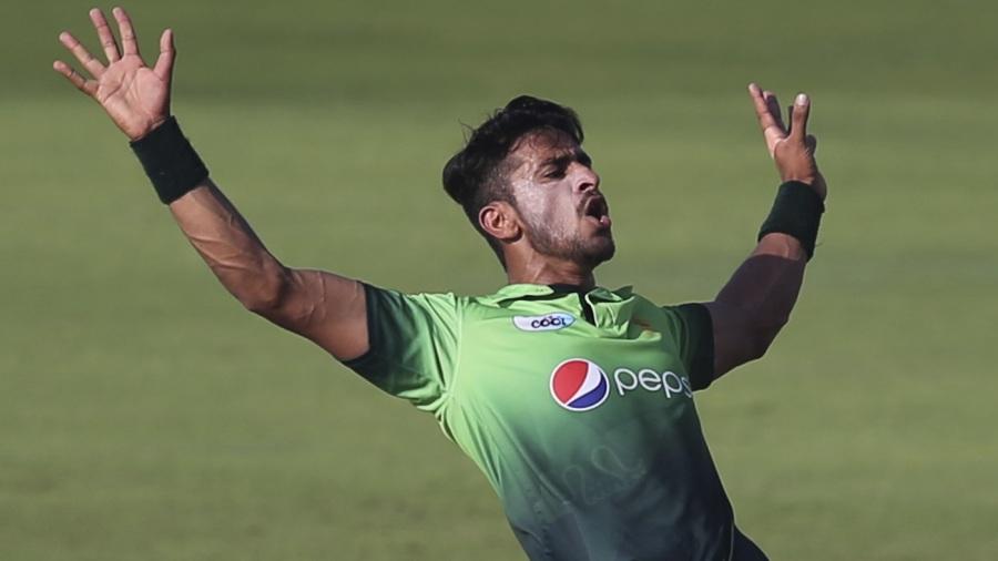 Hasan Ali exhibits his trademark celebration