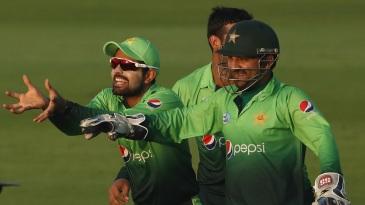 Babar Azam and Sarfraz Ahmed enjoy a moment of dominance