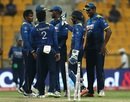 The Sri Lanka team gets together, Pakistan v Sri Lanka, 3rd ODI, Abu Dhabi, October 18, 2017