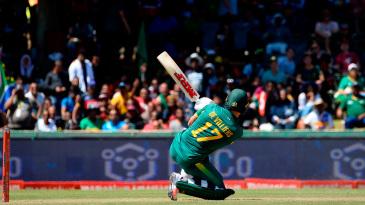 AB de Villiers sends the ball soaring