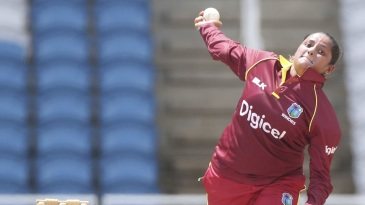 Anisa Mohammed delivers a ball