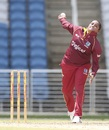 Anisa Mohammed delivers a ball, West Indies Women v Sri Lanka Women, 1st T20I, Antigua, October 19, 2017