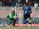 Dinesh Chandimal was run out for 16, Pakistan v Sri Lanka, 4th ODI, Sharjah