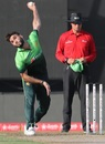 Usman Khan bowls on ODI debut, Pakistan v Sri Lanka, 4th ODI, Sharjah