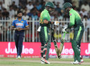 Babar Azam and Shoaib Malik have a word, Pakistan v Sri Lanka, 4th ODI, Sharjah, 20 October, 2017