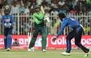 Shoaib Malik punches down the ground, Pakistan v Sri Lanka, 4th ODI, Sharjah, 20 October, 2017