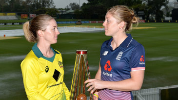 Rachael Haynes and Heather Knight ahead of the Women's Ashes