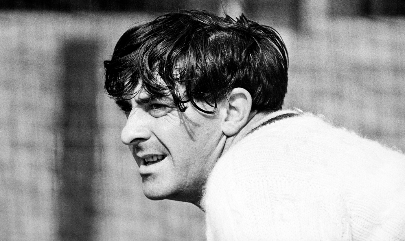 Fred Trueman sports a deceptively floppy-haired look
