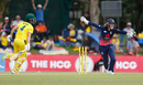 England wicketkeeper Sarah Taylor celebrates Elyse Villani's run-out, Australia v England, 1st ODI, Women's Ashes 2017-18, Brisbane, October 22, 2017