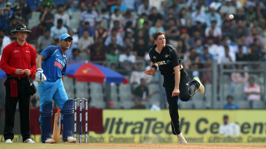 Mitchell Santner performed an admirable job as the lone spinner for New Zealand