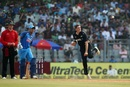 Mitchell Santner performed an admirable job as the lone spinner, India v New Zealand, 1st ODI, Mumbai, October 22, 2017