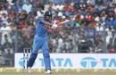 Hardik Pandya added the forehand swat to his hitting repertoire, India v New Zealand, 1st ODI, Mumbai, October 22, 2017