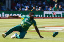 Andile Phehlukwayo slides in the field, South Africa v Bangladesh, 3rd ODI, East London, October 22, 2017