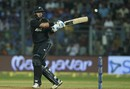 Cross-batted strokes were productive for Ross Taylor, India v New Zealand, 1st ODI, Mumbai, October 22, 2017