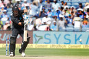Ross Taylor drives down the ground, India v New Zealand, 2nd ODI, Pune, 25 October, 2017