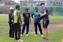 Tom Moody at a training session with Rangpur Riders players, Dhaka, October 25, 2017