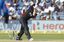 Henry Nicholls is cleaned up by an indipper, India v New Zealand, 2nd ODI, Pune, 25 October, 2017