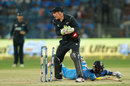 Tom Latham appeals for run out as Dinesh Karthik puts in a dive, India v New Zealand, 2nd ODI, Pune, 25 October, 2017