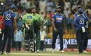 Shoaib Malik and Mohammad Hafeez shared a 39-run stand to finish the game, Pakistan v Sri Lanka, 2nd ODI, Abu Dhabi, October 26. 2017