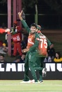 Mehidy Hasan Miraz bowled Hashim Amla inside the Powerplay, South Africa v Bangladesh, 1st T20I, Bleomfontein, October 26, 2017