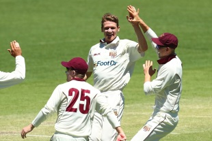 Brendan Doggett finished with four wickets in the first innings