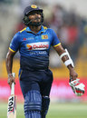Dilshan Munaweera walks back after being dismissed, Pakistan v Sri Lanka, 2nd T20I, Abu Dhabi, October 27, 2017