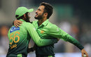 Mohammad Nawaz celebrates a wicket, Pakistan v Sri Lanka, 2nd T20I, Abu Dhabi, October 27, 2017
