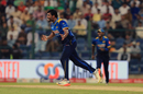 Thisara Perera exults after taking a wicket, Pakistan v Sri Lanka, 2nd T20I, Abu Dhabi, October 28, 2017