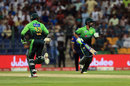 Shoaib Malik and Ahmed Shehzad run between the wickets, Pakistan v Sri Lanka, 2nd T20I, Abu Dhabi, October 27, 2017