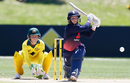 Tammy Beaumont shapes up to play a reverse sweep, Australia v England, Women's Ashes 2017-18, 3rd ODI, Coffs Harbour, October 29, 2017